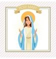 Holy mary cartoon design vector image vector image