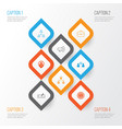 human icons set collection of hierarchy vector image vector image