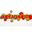 impeachment bright comic concept vector image vector image