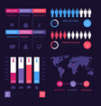 infographic dashboard worldwide marketing vector image