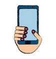 isolated hand smartphone cellphone vector image