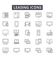 leasing line icons signs set outline vector image vector image