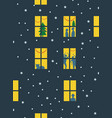 light in windows house vector image