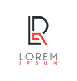 logo between letter l and letter r or lr vector image vector image