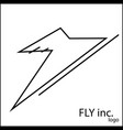 logo for airplane plane vector image