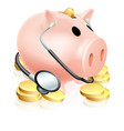 medical piggy bank concept vector image