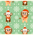 new year seamless background with monkey lion vector image vector image