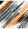 offroad grunge tyre prints background vector image vector image