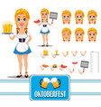 oktoberfest sexy redhead girl character creation vector image vector image