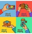 Online shopping design concept vector image vector image