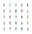 people character flat vector image