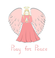 Praying Angel and Lettering vector image