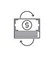 refinancing line icon concept refinancing vector image