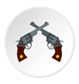 Revolvers icon flat style vector image