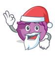 santa red cabbage mascot cartoon vector image vector image