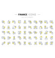 set line icons finance vector image