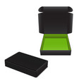 set of black cardboard box package for vector image