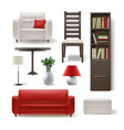 set of house furniture vector image vector image