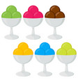 set of of ice cream vector image vector image