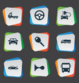 set simple transport icons vector image