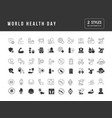 simple icons world health day vector image vector image
