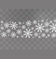 snowflakes snow winter vector image