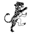 stylised tiger vector image