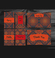 thank you miss you sorry cards set isolated on vector image vector image