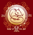 the year rat chinese new year design template vector image vector image