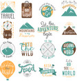 Travel motivation badge set vector image vector image