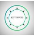 Two colored circle on a gray background vector image