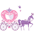 Vintage fairytale horse carriage isolated on white vector image
