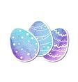 Easter eggs of watercolor texture vector image