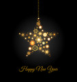 christmas star of golden snowflakes vector image