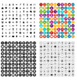 100 medal icons set variant vector image vector image