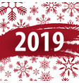 2019 happy new year background with snowflakes for