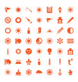 49 heat icons vector image vector image