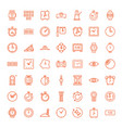 49 watch icons vector image vector image
