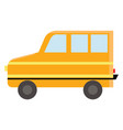 a yellow color bus symbolizing transportation vector image vector image