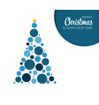 absract christmas tree card vector image