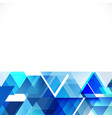 abstract blue tone geometric layout template vector image vector image