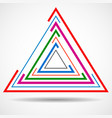 abstract technology triangle with lines geometric vector image
