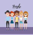 beauty women friend with style design vector image