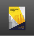 brochure cover design template for construction vector image vector image