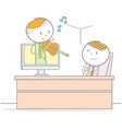 business relaxing vector image vector image