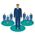 business team management flat vector image