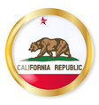 california flag button vector image vector image