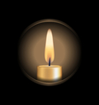Candle glowes in hole vector image