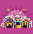 carnival tent booth vector image vector image