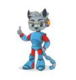 cat robot vector image vector image